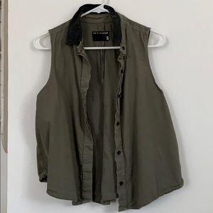 Rag and Bone Army Green Vest